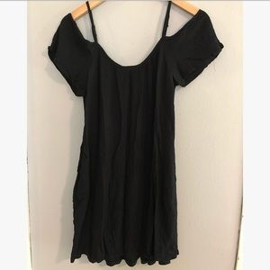 Mossimo M black open shoulder dress cover up